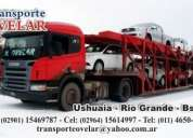 Transporte de automoviles y vehiculos en general ushuaia - rio grande - buenos aires