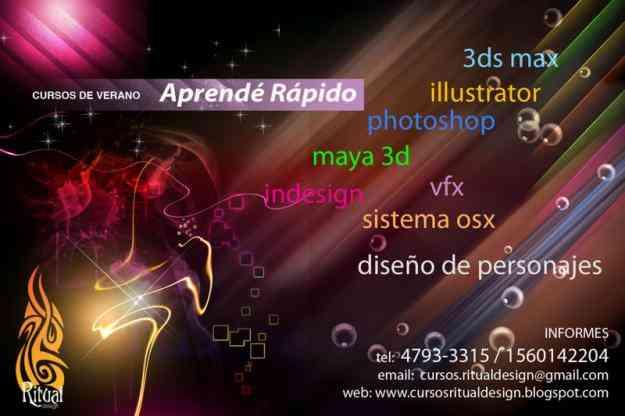 Cursos de Verano (Diseño/3D/Maya/Adobe)