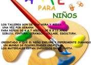 Taller de ceramica, dibujo y pintura./// taller de arte para niños
