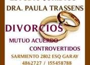 Abogados  divorcios  mar del plata  dra.  trassens  4862727 / 155458788