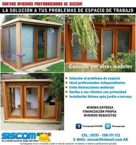Oficinas prefabricadas para patio jardin o terraza for Habitaciones prefabricadas para terrazas