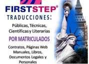 Traducciones públicas por traductores públicos matriculados