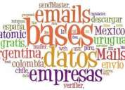 Bases datos emails hombres y mujeres de barrios capital federal