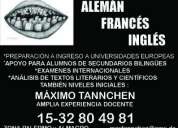 Clases particulares de alemÁn, francÉs, inglÉs y espaÑol