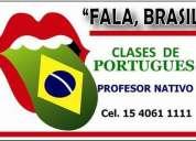 Clases de portugues - profesor nativo