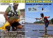 Veni y aprende con la primer clase de pesca con mosca!!
