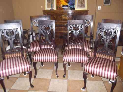 Sillas estilo ingl s reina ana flores doplim 89436 - Sillas estilo ingles ...