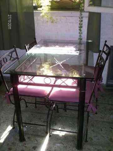Fotos de juego mesa y sillas hierro forjado estilo romano for Mueblerias en capital federal buenos aires
