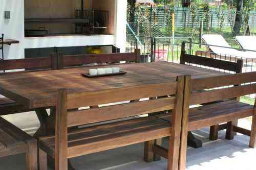 Muebles de jardin mesa de quincho el cerne maderas san for Muebles de jardin rosario