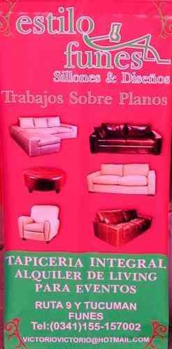 Sillones living sofas precio y calidad estilo funes for Precios de sillones de living