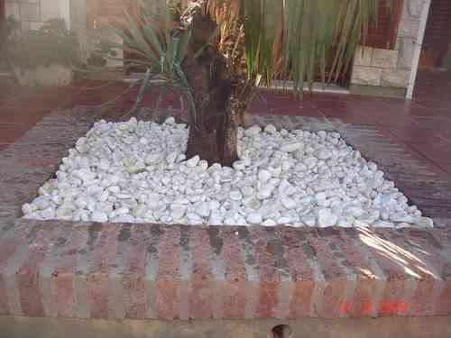 Jardines con piedra blanca free jardines con piedra - Piedra decorativa para jardin ...