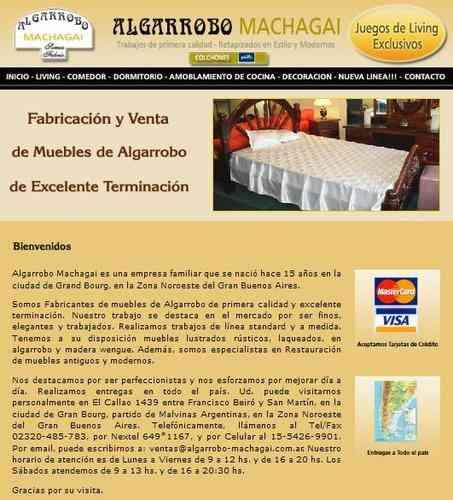 Muebles de Algarrobo de Primera Calidad  Entregas en Escobar  Belén