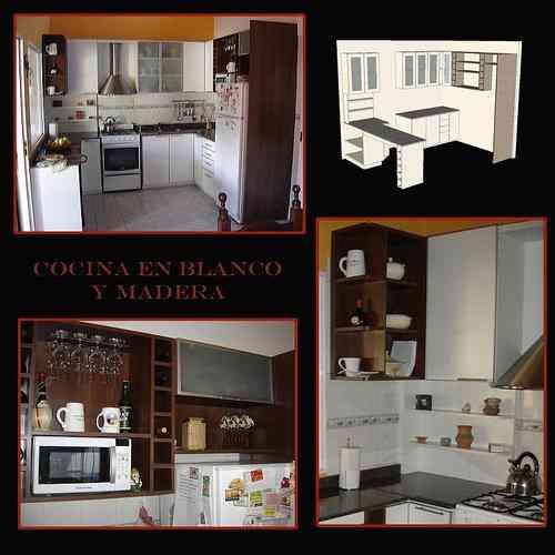 Muebles de cocina muebles a medida en melamina madera - Muebles de madera a medida ...
