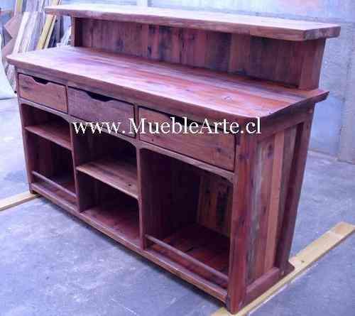 Bar rustico de madera reciclada villa luro doplim 91733 for Bar rustico de madera nativa