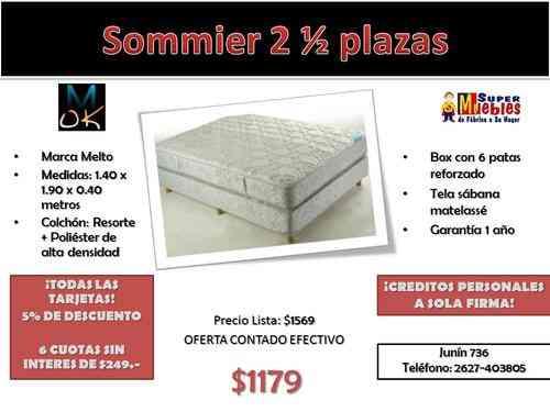 Precio somier stunning sommier plazas cannon somier cama for Precios de futones de 2 plazas