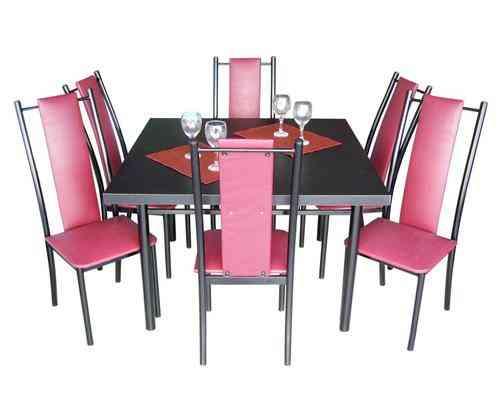 Juego de comedor 6 sillas mesa san vicente doplim - Mesa comedor 6 sillas ...