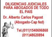 Diligencias judiciales en cap fed bs as y todo el pais dr.pagost