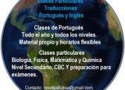 Clases particulares de portugués y traducción
