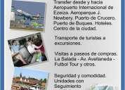 Transporte de pasajeros transfers florinda tour