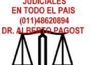 Diligencias judiciales dr. pagost en todo el pais