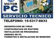 Servicio tecnico de pc y notebooks a domicilio en palermo -reparacion