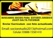Socio para  estudio juridico