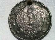Antigua moneda argentina patacon un peso 1883
