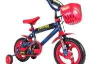 """Bicicleta rodado 12"""" spiderman eva"""