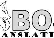 Asistencia en traducción de inglés
