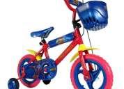 """bicicleta rodado 12"""" power ranger eva"""