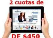 Pagina web, diseño de alta calidad 2 pagos de 450$