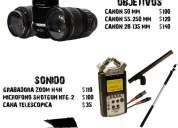Alquiler de equipos para cine,  video y fotografía