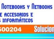 Reparaciones de pc, notebooks y netbooks. venta de accesorios e inusmos informáticos.