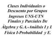 Clases particulares física análisis cálculo Álgebra probabilidad