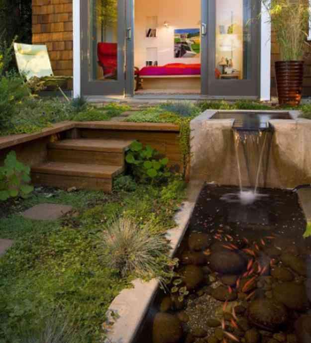 Dise o de jardines lagunas cascadas espejos de agua for Diseno de cascadas para jardin