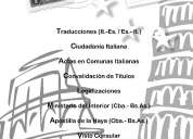 Traductora/gestora de italiano matriculada