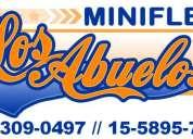 "Mini fletes ""los abuelos"" belgrano, villa urquiza 15-5895-7538"