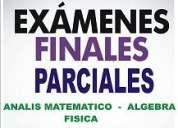 Clases particulares para examenes finales y parciales - consultas