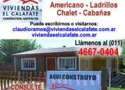 Construccion de casas de ladrillos general rodriguez - viviendas el calafate 4667-0404