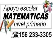 particular de matematicas y quimica, apoyo escolar - primario y 1ros años secund, bernal quilmes do