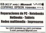 Service de reparaciones de pc notebooks-tecnico