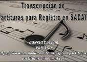 Transcripcion de partituras para registro en sadaic