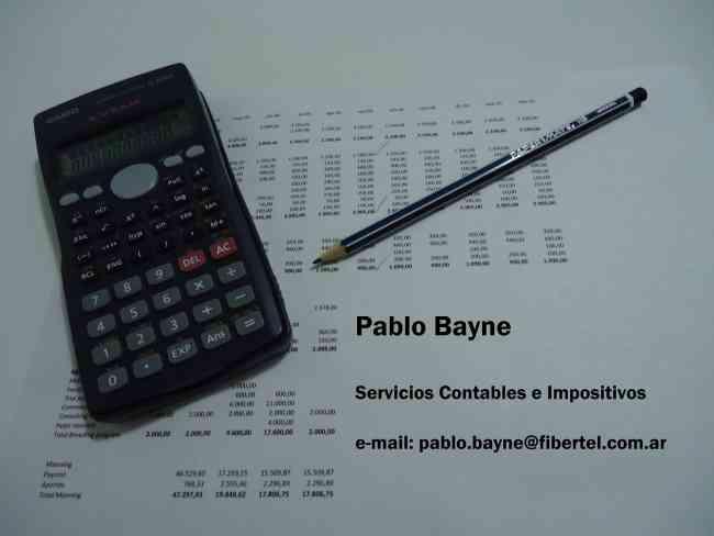 Pablo Bayne - Servicios Contables e Impositivos - Zona Norte
