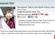 Descubierto tibet viajes en tren desde xining 7 dias