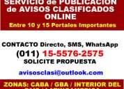 Servicio de publicacion de  para rubros  tribunales 15-5576 2575