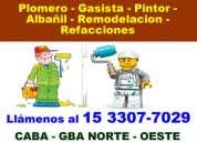 Trabajos de pintura de casas boedo - llamenos *15-3307 7029*