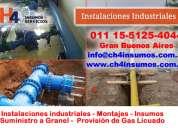 Servicio insumos industriales  campana llamenos ch4 insumos y servicios
