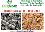 Rezagos y residuos industriales compra, venta zona tigre comuniquese (15) 4928-5301