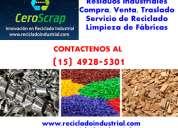 Rezagos y residuos industriales compra, venta zona esteban echeverría comuniquese (15) 4928-5301