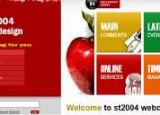 Alojamiento y diseno de pagina web, webdesign st2004 15 2252 8710